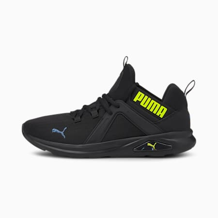 Enzo 2 Eco Men's Running Shoes, Black-Yellow-Star Sapphire, small-IND