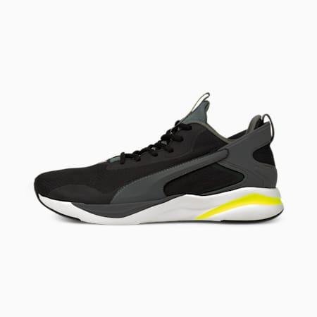 Zapatos para correrSoftRide Rift Techpara hombre, Black-CASTLEROCK-Yellow, pequeño