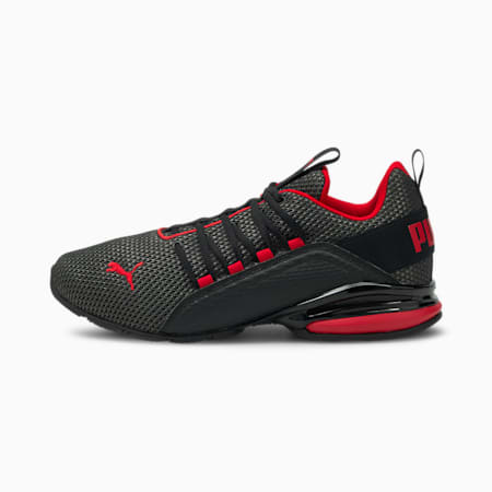 Axelion Men's Running Shoes, Puma Black-High Risk Red, small-IND