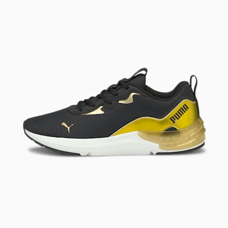 Cell Initiate Shimmer Women's Training Shoes, Puma Black-Puma Team Gold, small-IND