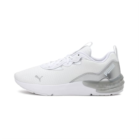 Cell Initiate Shimmer Women's Training Shoes, Puma White-Metallic Silver, small-IND