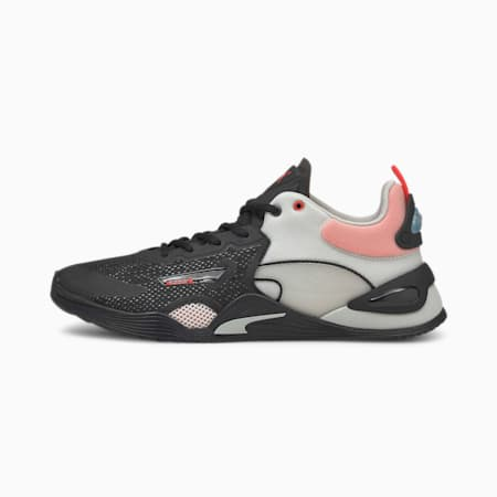 FUSE Men's Training Shoes, Puma Black-Poppy Red-Gray Violet, small-IND