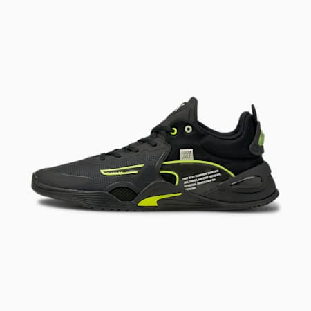 PUMA x FIRST MILE FUSE Men's Training Shoes, Puma Black-Yellow Alert, small-IND
