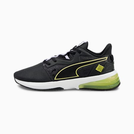 PUMA x FIRST MILE LVL-UP Women's Training Shoes, Puma Black-SOFT FLUO YELLOW, small-GBR