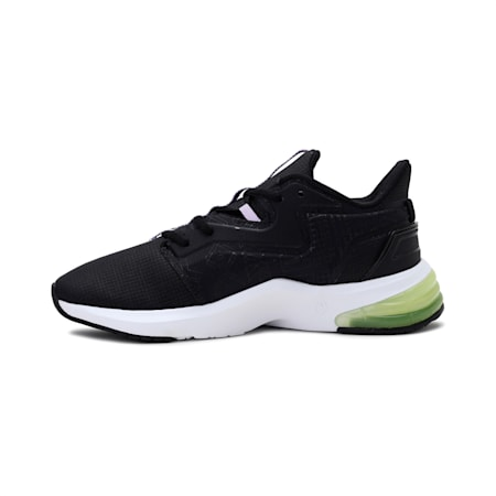 PUMA x FIRST MILE LVL-UP Women's Training Shoes, Puma Black-SOFT FLUO YELLOW, small-IND