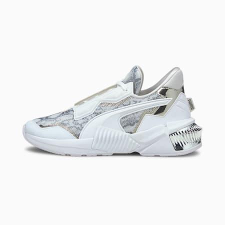 Zapatillas de entrenamiento Provoke XT Untamed para mujer, White-Silver-CASTLEROCK, small