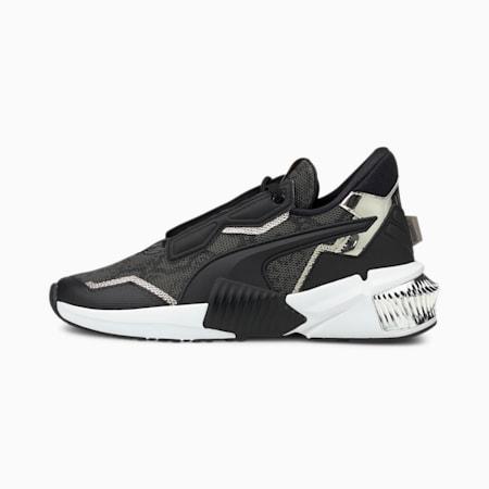 Provoke XT Untamed Women's Training Shoes, Puma Black-Metallic Silver, small-GBR