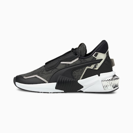 Provoke XT Untamed Women's Training Shoes, Puma Black-Metallic Silver, small-IND