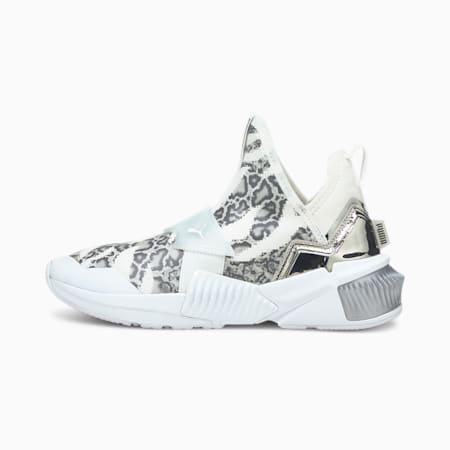Provoke XT Mid Untamed Women's Training Shoes, Puma White-Metallic Silver, small