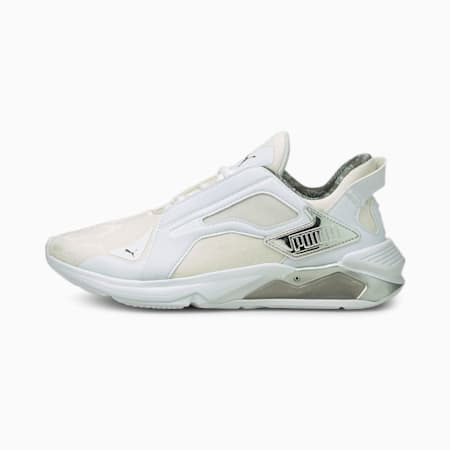 Zapatos de entrenamiento LQDCELL Method Untamed para mujer, Puma White-Puma Silver-Puma Black, pequeño
