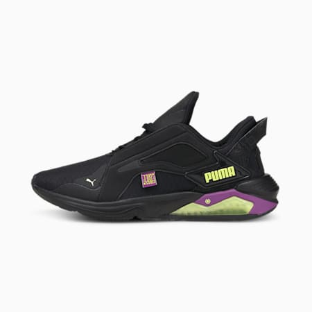 PUMA x FIRST MILE LQDCELL Method Women's Training Shoes, Black-Byzantium-FLUO YELLOW, small-IND