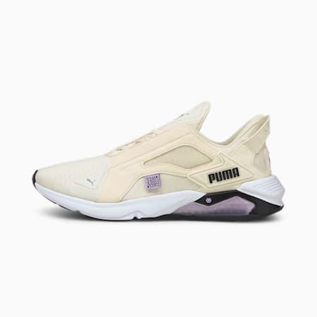 Zapatos de entrenamiento PUMA x FIRST MILE LQDCELL Methodpara mujer, Eggnog-Light Lavender-Black, pequeño