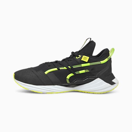 Chaussures de sport PUMA x FIRST MILE Ultra Triller, homme, Noir Puma-alerte jaune, petit
