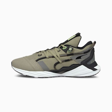 PUMA x FIRST MILE ULTRA Triller Men's Running Shoes, Vetiver-Elektro Green, small-IND