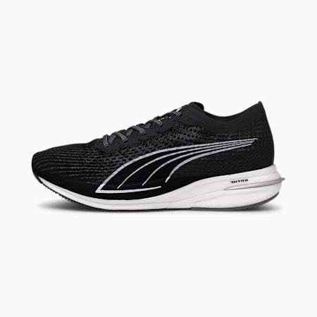 Zapatos para correrDeviateNITRO para hombre, Puma Black-Puma Silver, pequeño