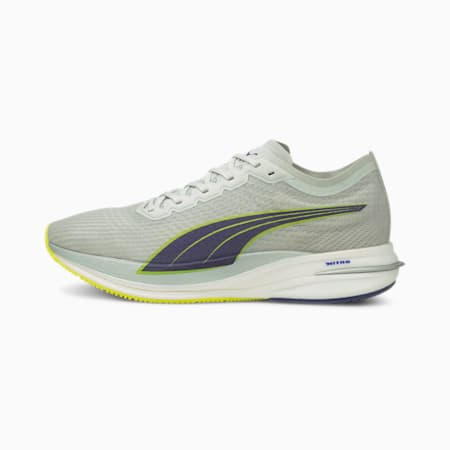 Deviate Nitro Men's Running Shoes, Gray Violet-Yellow Alert, small-IND