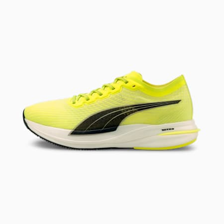 Deviate NITRO Men's Running Shoes, Yellow Alert-Puma Black, small
