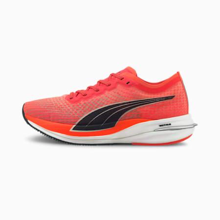 Zapatos para correrDeviateNITRO para mujer, Lava Blast-Puma Black, pequeño