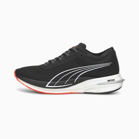 Deviate Nitro Women's Running Shoes, Puma Black-Lava Blast, small-IND