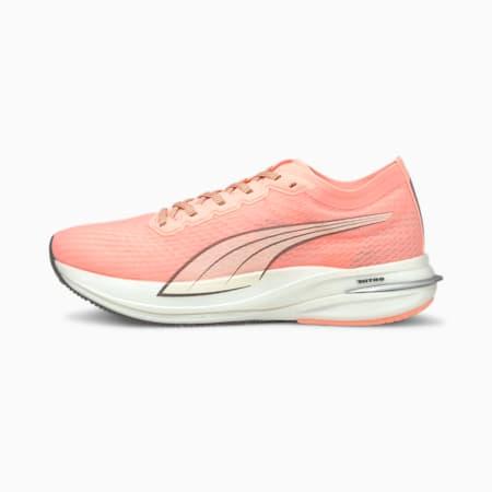 Deviate NITRO Women's Running Shoes, Elektro Peach-Puma White, small
