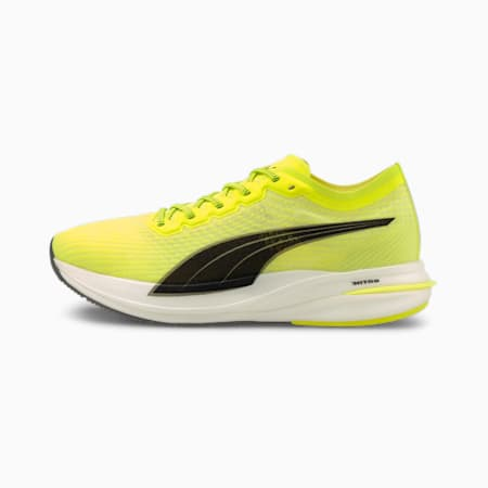 Deviate NITRO Women's Running Shoes, Yellow Alert-Puma Black, small