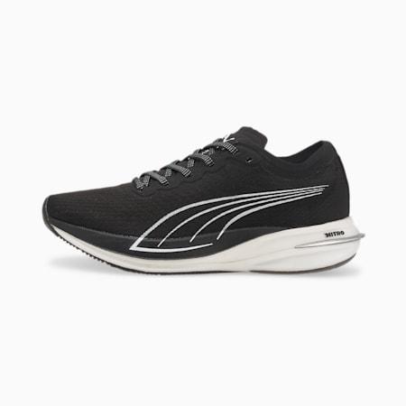 Zapatos para correrDeviateNITRO para mujer, Puma Black-Puma White, pequeño