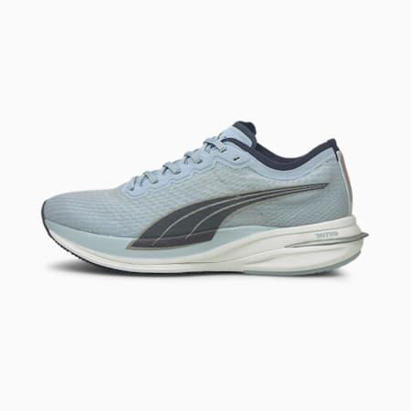 Zapatos para correrDeviateNITRO para mujer, Blue Fog, pequeño