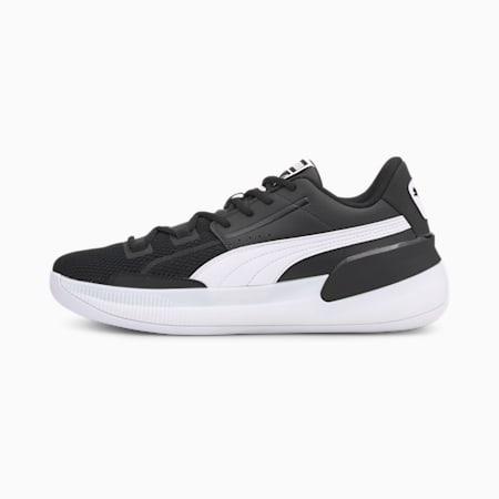Clyde Hardwood Team Men's Basketball Shoes, Puma Black-Puma White, small