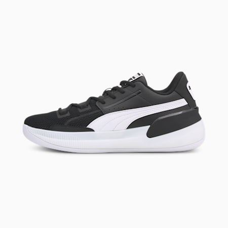 Clyde Hardwood Team basketbalschoenen heren, Puma Black-Puma White, small