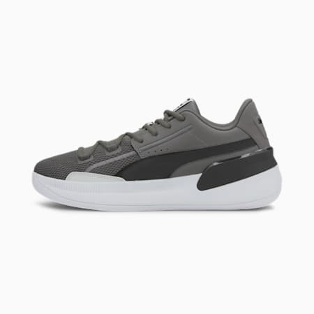 Clyde Hardwood Team Basketball Shoes, CASTLEROCK-Puma Black, small