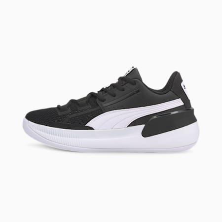 Clyde Hardwood Team Youth Basketball Shoes, Puma Black-Puma White, small