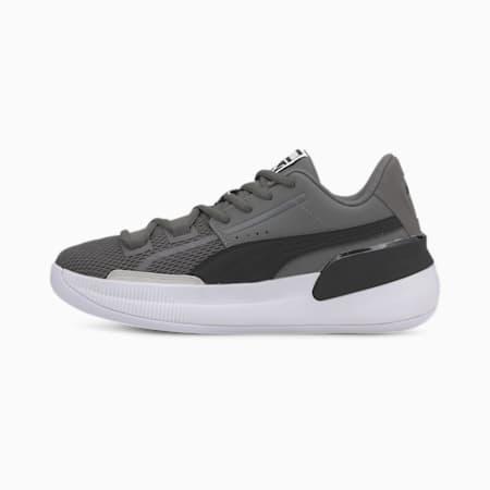 Clyde Hardwood Team Basketball Shoes JR, CASTLEROCK-Puma Black, small