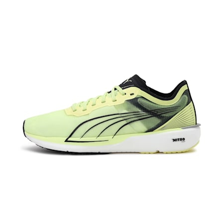 Liberate Nitro Women's Running Shoes, SOFT FLUO YELLOW-Puma Black, small-IND
