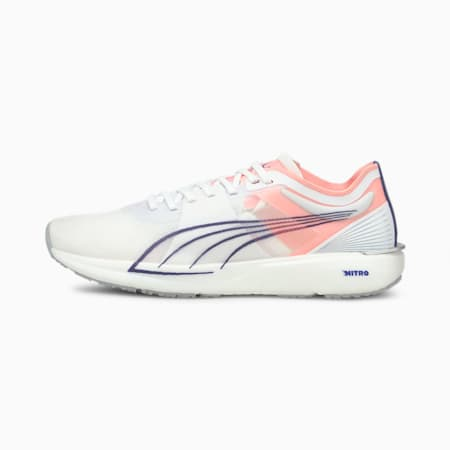 Liberate Nitro Women's Running Shoes, Puma White-Elektro Peach, small