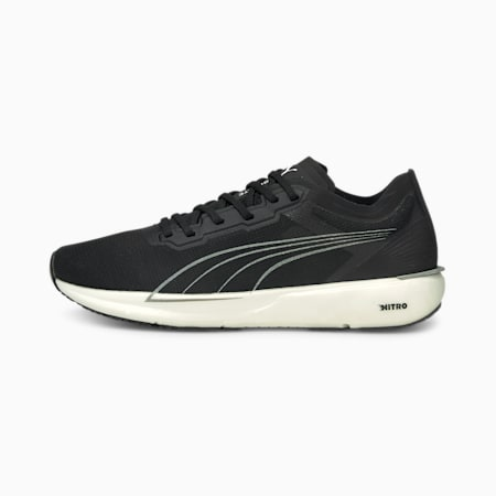 Liberate Nitro Women's Running Shoes, Puma Black-Puma White-Puma Silver, small-IND