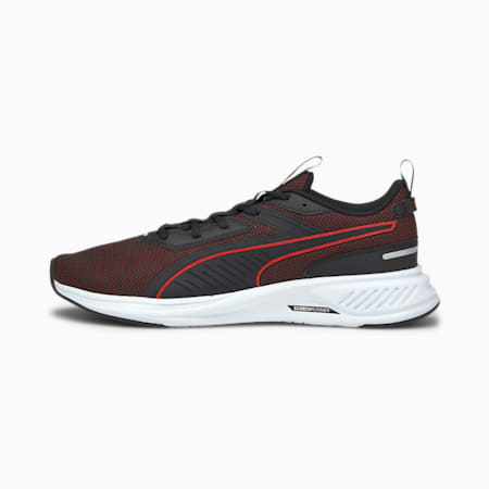 Scorch Runner Running Shoes, Puma Black-High Risk Red, small-SEA