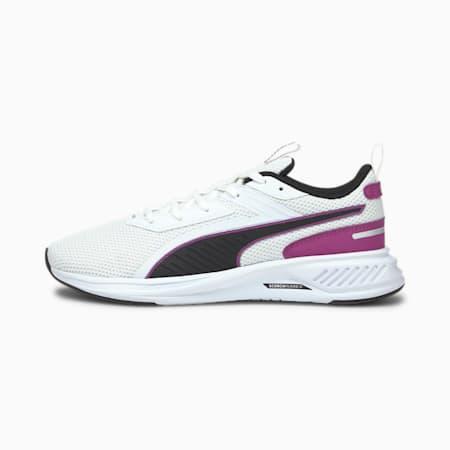 Scorch Runner Running Shoes, White-Black-Byzantium, small-GBR