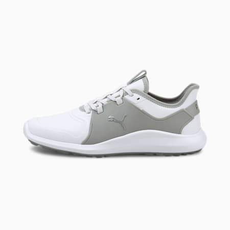 IGNITE FASTEN8 Pro Men's Golf Shoes, White-Silver-High Rise, small