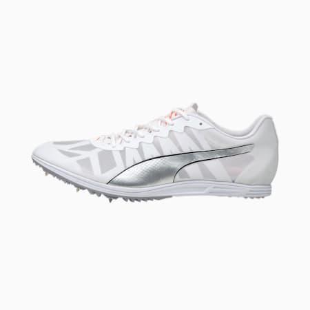 Zapatillas con clavos para pista y campo evoSPEED Distance 9 para hombre, White-Silver-Lava Blast, small