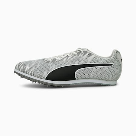 evoSPEED Star 7 Track and Field Spikes, White-Black-Silver, small-IND