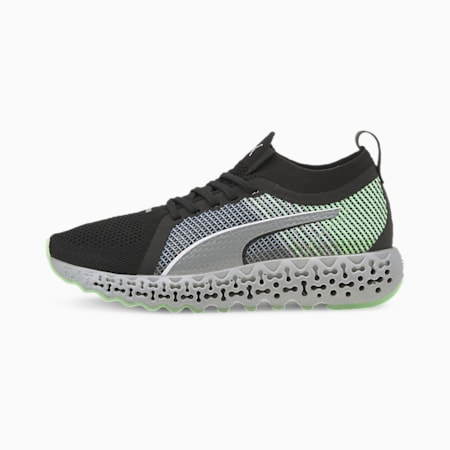 Calibrate Trainers, Puma Black-Elektro Green, small-SEA