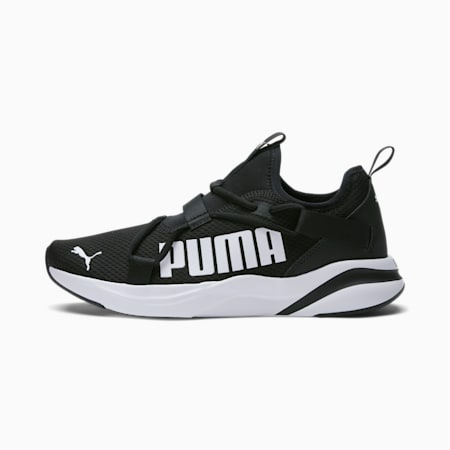 Zapatos para correr sin cordones Softride Rift Bold para hombre, Puma Black-Puma White, pequeño