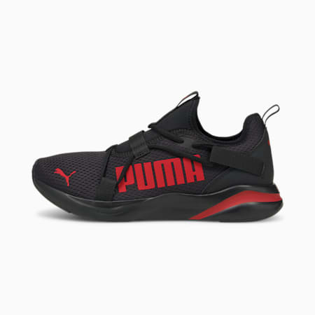 Softride Rift Bold Men's Slip-On Running Shoes, Puma Black-High Risk Red, small-IND