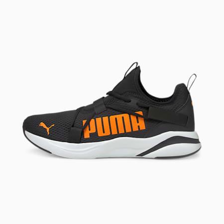 Softride Rift Bold Men's Slip-On Running Shoes, Puma Black-Orange Glow, small-IND