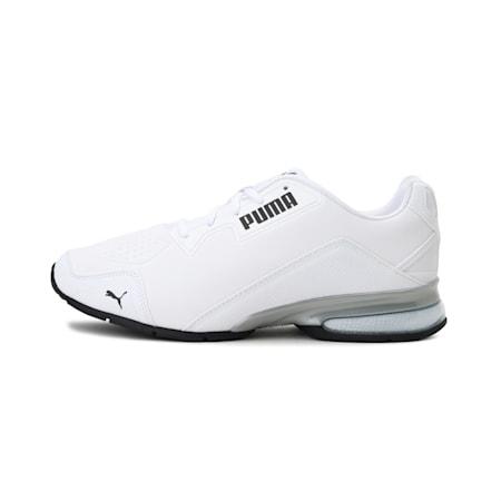 Leader VT Tech Running Shoes, Puma White-Puma Black, small-IND