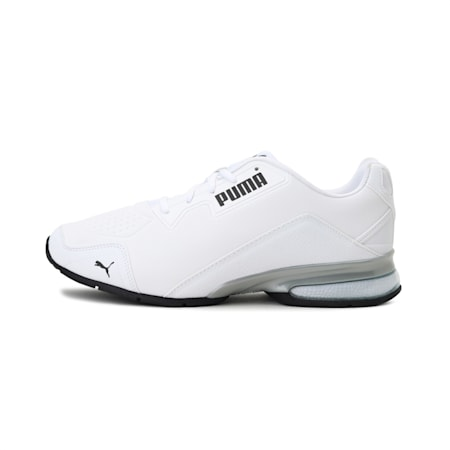 Leader VT Tech Running Shoes, Puma White-Puma Black, small-IND