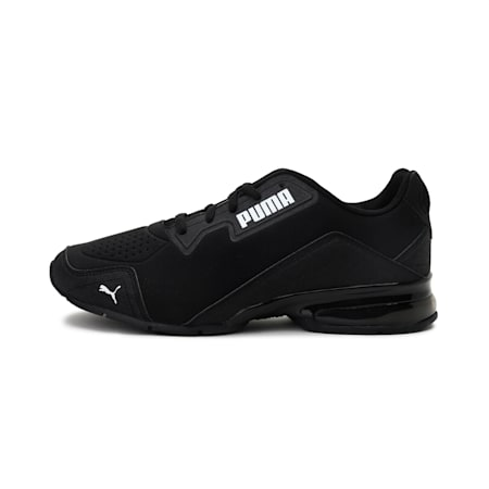 Leader VT Tech Running Shoes, Puma Black-Puma White, small-IND
