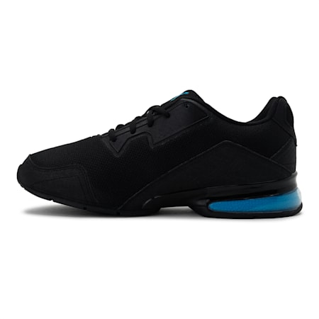 Leader VT Tech Mesh Running Shoes, Puma Black-Nrgy Blue, small-IND