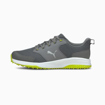 Chaussures de golf Grip Fusion Sport 3.0 homme, QUIET SHADE-Puma Silver-Limepunch, small
