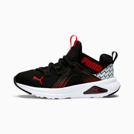 Enzo 2 Repeat Little Kids' Shoes, Puma Black-High Risk Red, small